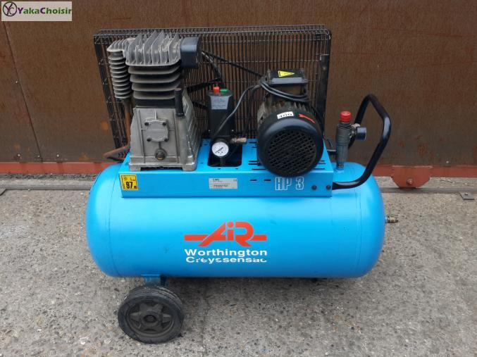 Industriel compresseur d 39 air de 100 litres worthington creyssensac rh ne alpes rh ne yakachoisir - Pieces detachees compresseur d air ...